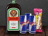 Jagermaister + Red bull + Mani