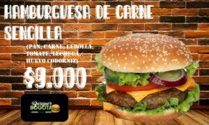 HAMBURGUESA DE CARNE SENCILLA